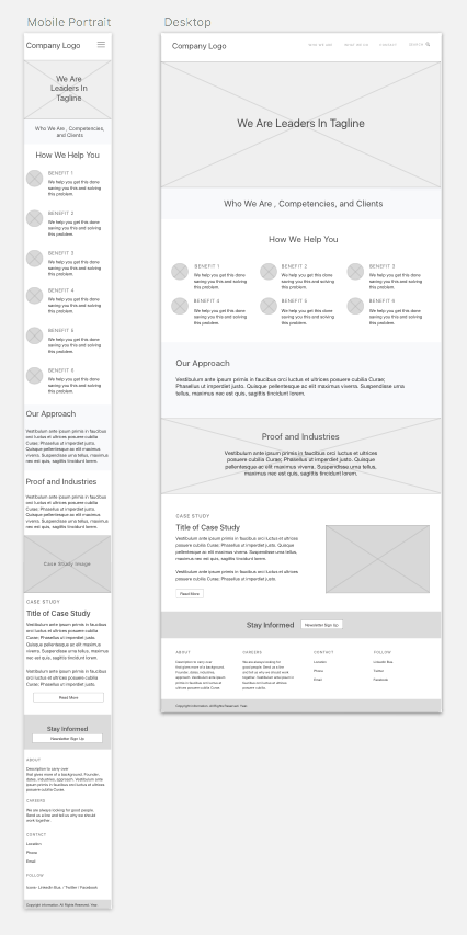 Image of mobile and desktop wireframes